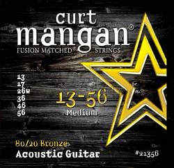 Curt Mangan acoustic guitar strings 80/20 Bronze medium 13-56