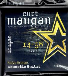 Curt Mangan 80/20 Bronze Acoustic 14-58 Guitar Strings