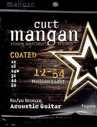 Curt Mangan coated acoustic guitar strings 80/20 bronze