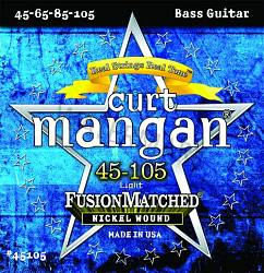 Curt Mangan nickel wound light bass guitar strings 45-105