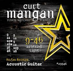 Curt Mangan 80/20 Bronze acoustic guitar 12 string 9-46