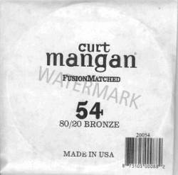 54 Curt Mangan single string 80/20 bronze ball end