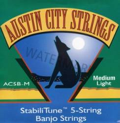 Austin City Banjo Strings 5-String AC5B-M-U