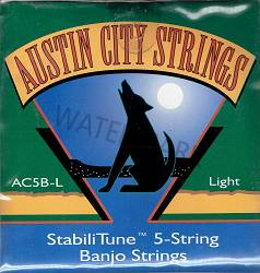Austin City 5-string banjo strings AC5B-L