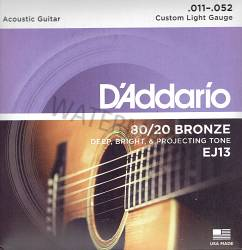 D'Addario, 80/20 bronze acoustic guitar strings 11-52 EJ13