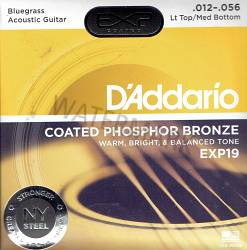 D'Addario Phosphor bronze acoustic coated guitar strings 12-56