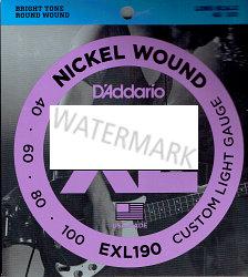 D'Addario nickel bass guitar strings 40-100 EXL190