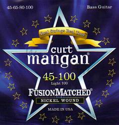 Curt Mangan Nickel Light  Wound Bass Guitar Strings 45-100