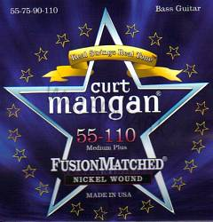 Curt Mangan nickel wound medium bass strings 55-110