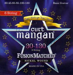 Curt Mangan Nickel Wound 6 String Bass strings 30-130