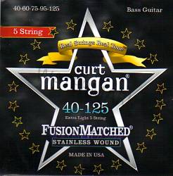 Curt Mangan stainless wound extra light 5-String Bass 40-125
