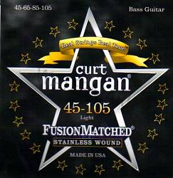 Curt Mangan stainless wound light bass strings 45-105