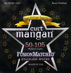 Curt Mangan stainless wound medium light bass strings 50-105