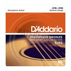 D'Addario acoustic phosphor bronze resophonic guitar strings