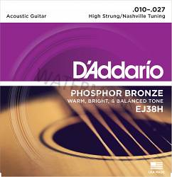 D'Addario Phosphor Bronze Guitar Strings 10-27