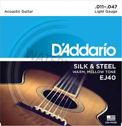 D'Addario acoustic Folk guitar strings 11-47 EJ40
