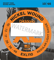D'Addario nickel wound guitar strings 10-46 EXL110