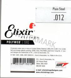 012 Elixir Polyweb coated single string plain steel 4 pack