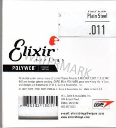 011 Elixir plain steel Polyweb single string 4 pack