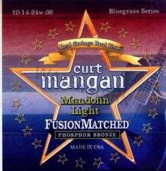 Curt Mangan mandolin strings light phosphor loopend 10-36
